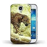 Stuff4 Custodia/Cover/Caso/Cassa Rigide/Prottetiva Stampata con Il Disegno Animali Nord America per Samsung Galaxy S4/SIV - Giaguaro