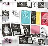 Quiltetiketten, Quilt, Schild, Nähen, Schreibmaschine,