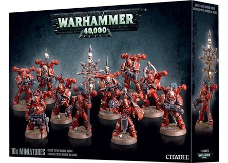 Games Workshop Chaos Space Marine Squad Warhammer 40,000