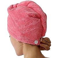 CHIC-CHIC Séche Serviette Bain Microfibre Séchage Rapide Serviettes Soin Cheveux Serviette Wrap (Pourpre)
