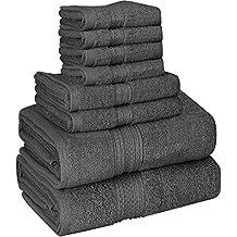 Utopia Towels - 700 GSM Juego de toallas de 8 piezas; 2 toallas de baño
