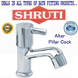SHRUTI (Shippo) Alter Model Pillar BibCock / Taps With Wall Flange , Brass Taps Made By 100% Brass Honey Heavy Duty -AL103