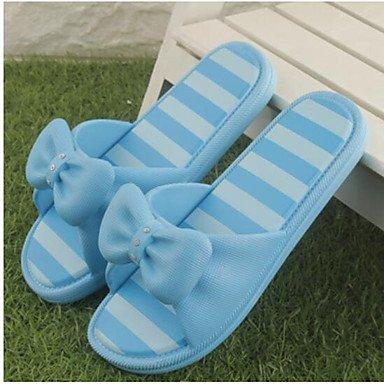 zhENfu donna pantofole & amp; flip-flops Estate Slingback Casual in gomma tacco piatto blu rosso Pool