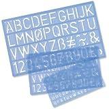 Helix Stencil - Paquete de reglas educativas (con letras, números, símbolos)