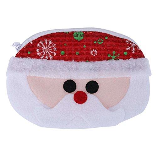 vanpower Weihnachten Weihnachtsmann-Münze Geldbeutel Geldbörse Bag Süßigkeiten Geschenk Tasche Santa Claus (Geldbörse Claus)