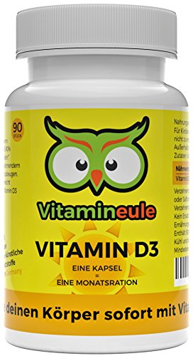 Vitamin D3 Kapseln - 30.000 i.E. - Qualität aus Deutschland - Ohne künstliche Zusatzstoffe - 100% Zufriedenheitsgarantie - Vitamineule® - 1000 i.E. Tagesdosis - veganes D3 (Cholecalciferol)
