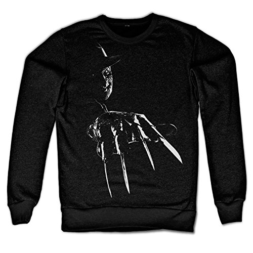 Officially licensed merchandise freddy krueger sweatshirt (black), x-large