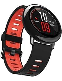 tpulling Arima amazfit Reloj 22mm bicolor pulsera de silicona Nuevo tipo de y banda de silicona deportes Strap., rojo