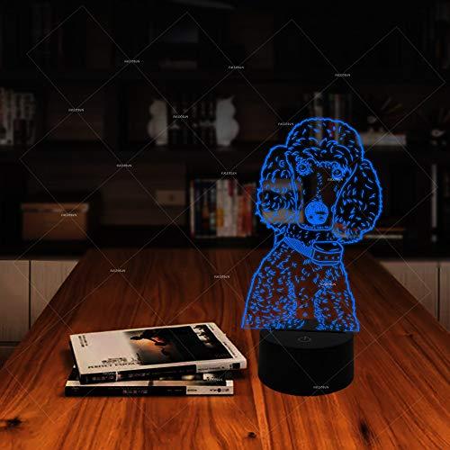 3D Nachtlichter Led Farbwechsel Lichter Netter Hund Portrait Design Pudel 7 Farbe Ändern Neue Beleuchtungsprodukte Für Kindergeschenke Oder Schlafzimmer Dekor -