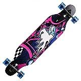 Tomasa Longboard Anfänger Skateboard Komplettboard mit ABEC-9 High Speed Kugellager Drop Down Street, 104 x 23 x 10cm