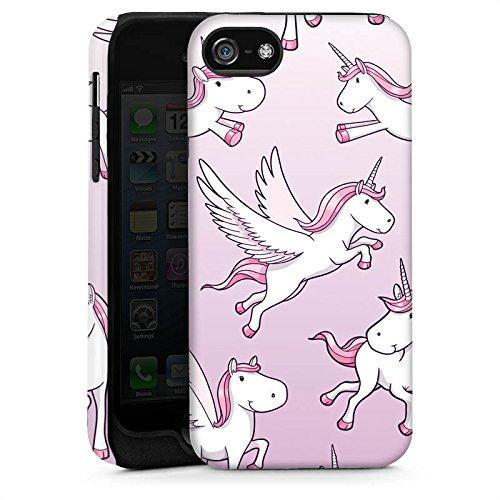 Apple iPhone 5s Housse Étui Protection Coque Licorne Licorne Licorne Cas Tough brillant