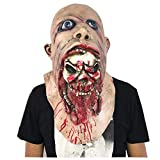 GHH Beängstigend Böse Monster Maske Doppel-Gesicht Latex Gummi-Maske Mit Clown Dress up Zombie-Kostüm Party Gummi-Latex-Maske Für Halloween/Geburtstagsfeiern, Karnevals Dekorationen (Blut)