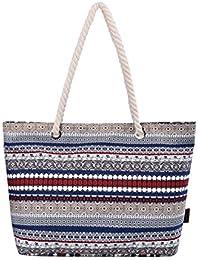 Epokris Womens Large Beach Tote Bag Shopping Bag Shopper Bag With Thick Rope Handle 252 (Elephant)
