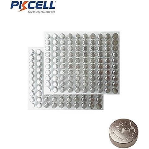 200x AG13G13LR44A76357GP76A SR44W botón pilas de monedas