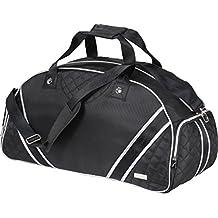 Spaziosa y robusta bolsa deportiva ferraghini de nailon con dibujo acolchado. Correa desmontable, dos asas para el transporte y uno compartimento para le Zapatos.