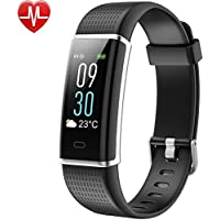 Fitness Tracker, Willful Colour Screen Display Smart Bracelet Activity Tracker Waterproof IP68 Pedometer Watch with Heart Rate Monitor, 14 Exercise Modes, Sleep Monitor, Screen Brightness Adjustable, Call SNS Vibration for Women Men Kids Compatible with iPhone Android Phone