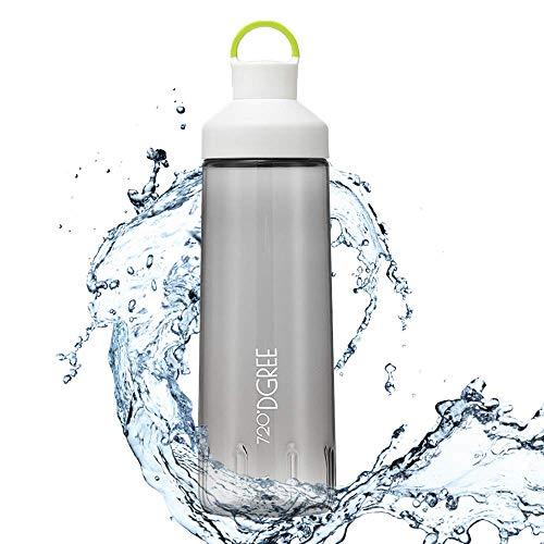 """Trinkflasche \""""twinBottle\"""" - 950ml - Tritan Wasserflasche mit 2-Wege-Öffnung - Auslaufsichere Sportflasche - BPA Frei - Perfekt für Sport, Outdoor, Schule - Einfaches Befüllen & Reinigen Dank Weithals"""