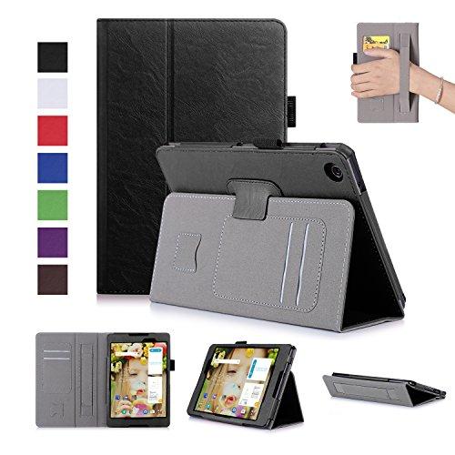 Awenroy Hülle für ASUS ZenPad S 8.0 Z580C PU Leder Flip Schutzhülle Cover mit Kartenfächer & Handschlaufe für ASUS ZenPad S 8.0 Z580C / Z580CA 8