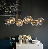 ZMH LED Pendelleuchte esstisch Hängeleuchte mit 8-Flammig Glas Kugel Leuchte Pendellampe Esszimmerlampe Hängellampe Kronleuchte LED Wohnzimmerlampe Schlafzimmerleuchte Innenleuchte