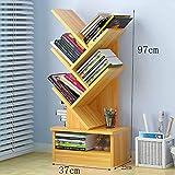 P&D Libreria scaffale per scaffali semplici armadietti da scrivania Piccoli scaffali per Libri in Legno Finto Legno (Design : A3)