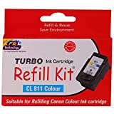 Turbo Refill Kit for Canon CL 811 Colour Ink Cartridge