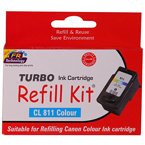 Turbo Refill Kit for Canon CL 811 Colour Ink Cartridge  available at amazon for Rs.483