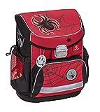 Ergonomischer Schulranzen Superleicht Spinne mit Brustgurt für die Grundschule 1-2 Klasse / Jungen Mädchen / Spider Motiv Rot und Schwarz von Belmil