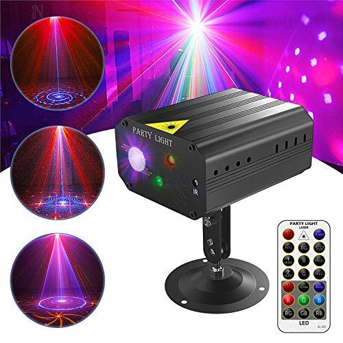 Discokugel, Gvoo Sound Aktivierte Party Light LED Bühnenprojektor 6 Farben 24 Muster mit Fernbedienung für Urlaub Party Kinder Geburtstag...