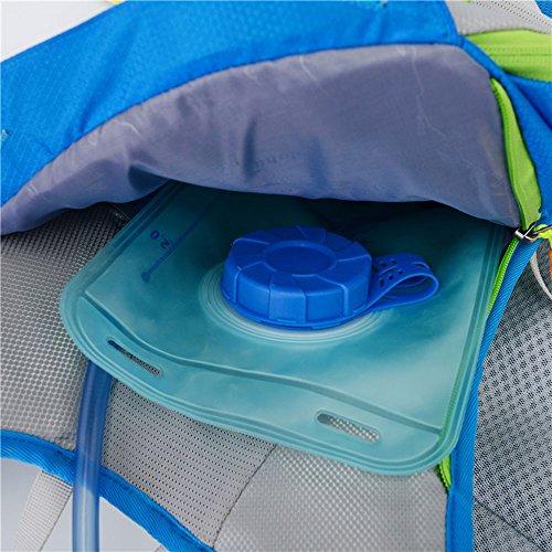 Verstellbarer Schultergurt / Brustgurt, der Wasserbeutel-Rucksack im Freien doppelte Schulter Querland-Reitpaketmänner wasserdichter wandernder Beutel ist Black