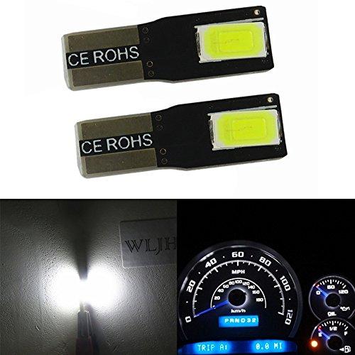 Plug and Play WLJH 6 Pack Bleu T5 LED Ampoules Automobile 2721 74 17 79 5050SMD Compteur de vitesse Dash Gauge Indicateur de tableau de bord Lumi/ère