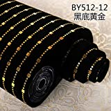Jhyhome Papier Peint de Fond ktv insonorisation Tissu thème de la Mode Papier Peint Tissu Fond Papier Peint revêtement Mural, Or Noir
