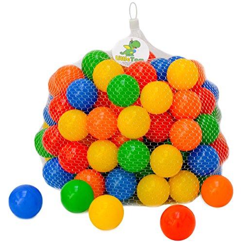 LittleTom 120 Bolas de Colores Ø 5,5cm para llenar Piscinas para niños...