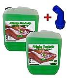 2x 10 L Cremeseife Handseife APFEL + Ausgießer Flüssigseife extra mild Seifenspender