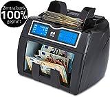 ZZap NC50 Banknotenzähler mit Wertzählung für gemischte Stückelung & 100% genaue Fälschungserkennung - Geldzählmaschine Geldzähler