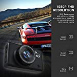 Dash Cam Front and Rear Camera FHD 1080P with Night Vision and SD Card Included, 3 Inch IPS Screen Dash Cam for Cars, 170°Wide Angle Dashboard Camera DVR Motion Detection Parking Monitor G-Sensor HDR 14