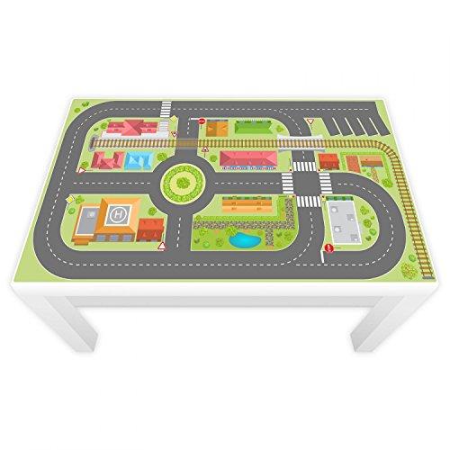 nikima Schönes für Kinder Spielfolie für Lack Tisch 89 x 54 cm Stadtleben (Möbel Nicht Inklusive)