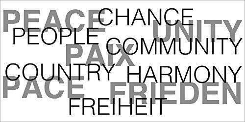 Artland Poster oder Leinwand-Bild gespannt auf Keilrahmen mit Motiv Jule Frieden Statement Bilder Sprüche & Texte Schrift Kunst Schwarz/Weiß A7OK