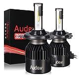 Best alarme de voiture Audew - Audew LED COB Auto 8000LM 6000K Phare Ampoules Review