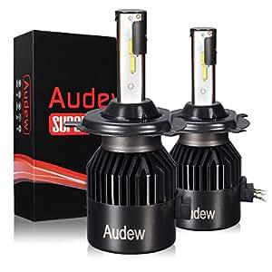 Audew Headlamp C9 LED Car LED Car Headlights COB Auto 8000LM 6000K Light Bulb Car Light Bulbs 9-32V DC Light Bulb H4