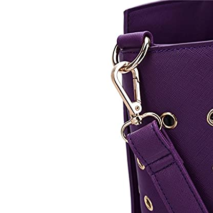 YiHao Dog Carriers Airline Approve Portable Convenient Lightweight Outdoor Travel Pet Carrier Handbag 8009 (Purple) 8