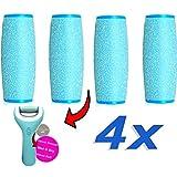 Set de 4 Rodillos Lijadores Extrarrugosos para Recambio de Scholl Velvet Smooth / rodillo compatible para la nueva húmeda y seca