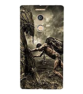 Takkloo warrior super hero,man with wings, man with super power, man pushing someone) Printed Designer Back Case Cover for Gionee Elife E8