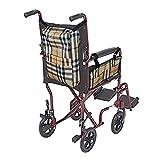 QEES 2 bolsas para silla de ruedas, sillas de ruedas de alta resistencia, mochila de almacenamiento y reposabrazos, organizador lateral, organizadores impermeables para caminar y almacenamiento LYB10