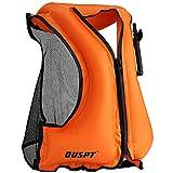 OUSPT Unisex Adulto Portable Gilet Gonfiabile boccaglio per Immersioni in Tutta Sicurezza (Arancia)
