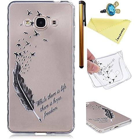 Samsung J3 Pro Trasparente Caso Cover HuaForCity® Samsung J3 Pro