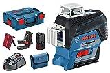 Bosch Professional 0601063R02 Laser Lignes Gll 3-80 C, Bleu, Laser Rouge
