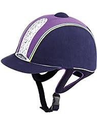 Harry Hall leyenda Plus PAS015 equitación, color  - Navy/Purple, tamaño 59cm