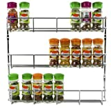 Andrew James 3 Tier Spice / Herb Rack Wall Mountable or Kitchen Cupboard Storage