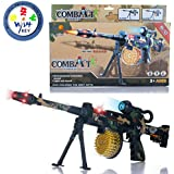 Wishkey Battery Operated Musical Combat Sniper Army Printed 56 Cm Gun Toy For Kids Boys And Girls With Light And Sound