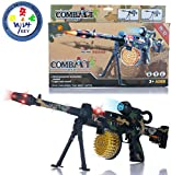 #10: Wishkey Battery Operated Musical Combat Sniper Army Printed 56 cm Gun Toy for Kids Boys and Girls with Light and Sound